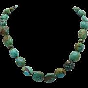 Stunning Vintage Tibetan Turquoise Necklace
