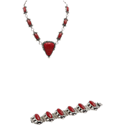 Taxco Sterling Silver Necklace and Bracelet