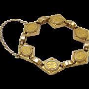 14KT Gold Cannetille Etruscan Revival Bracelet