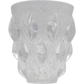 Clear White R. Lalique Rampillons Vase