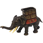 Austrian Cold Painted Bronze Elephant Sculpture