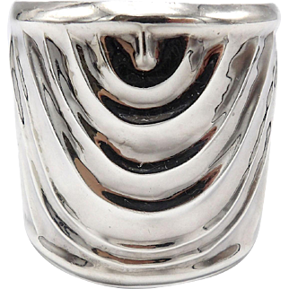 Vintage Taxco Silver Cuff