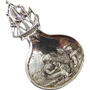 Dutch Silver Figural Tea Caddy Spoon