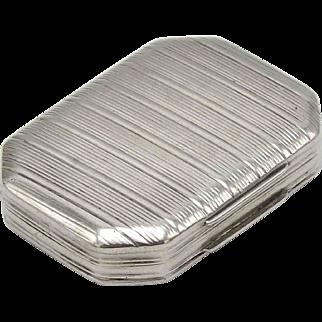 Georgian Sterling Silver Pemberton Vinaigrette