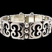 Vintage Taxco Silver Shadowbox Bracelet