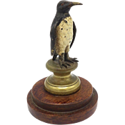 Austrian Cold Painted Bronze Penguin Sculpture