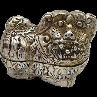 Thai Silver Dog Box