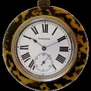 Tiffany & Co. Faux Tortoise Shell Clock