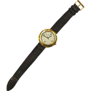 18 K Gold Chaumet Wrist Watch with Skeleton Back