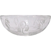 R Lalique Small Glass Campana Bowl
