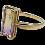 14K Gold Vintage Ametrine Ring
