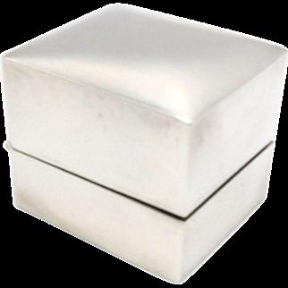 Mappin & Webb Sterling Silver Presentation Ring Box