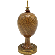 Theo Faberge 24K Gold & Wood Scribe's Egg with Pen