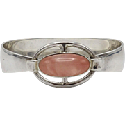 Niels Erik From Sterling Silver & Rose Quartz Modern Bracelet