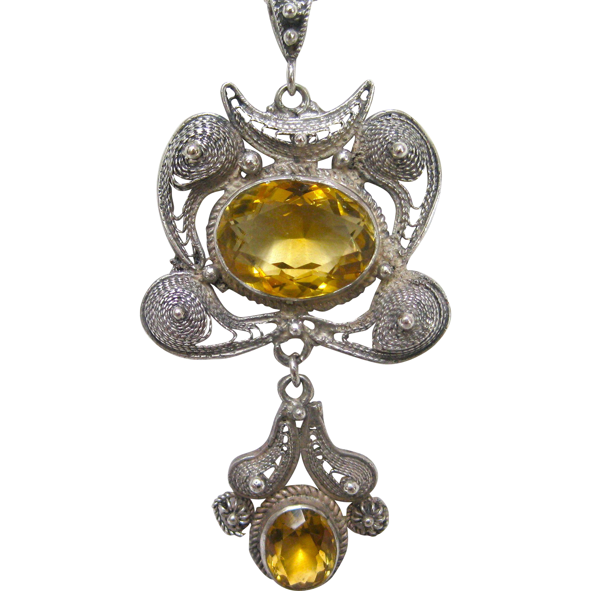 pendant itm sterling click silver to enlarge necklace thumbnails drop new chain citrine amethyst