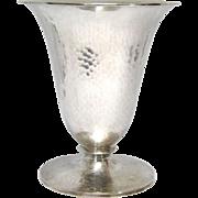 Art Deco 800 Silver Johann Beck Vase