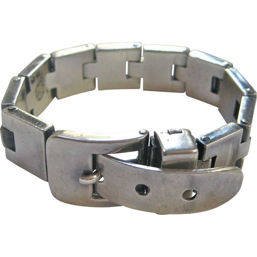 Sucesores De William Spratling Mexican Sterling Silver Buckle Bracelet Sold Ruby Lane