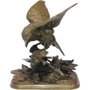 Pautrot's Bronze Sculpture of Two Birds