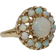14 Karat Gold and Opal Cluster Flower Ring