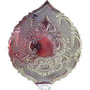 Olive Pattern Bright Cut Sterling Silver Tomato or Buckwheat Server circa 1870