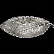 Classic Buccellati Sterling Silver Rose Leaf Dish