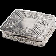 Victorian Hand-chased Sterling Silver Vinaigrette