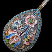 Seminova Russian Enamel Silver Spoon