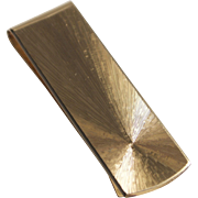 European Mid-Century Modern 14KT Yellow Gold Money Clip