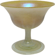 Tiffany Iridescent Pastel Art Glass Sherbet, circa 1905-1915