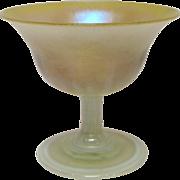 Tiffany Iridescent Pastel Art Glass Sherbet, circa 1905-1915