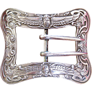 Unger Brothers Sterling Silver Winged Beetle Belt Buckle