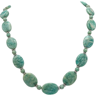 Czech Cut Crystal and Quartz Beaded Necklace