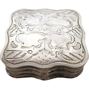 1860s Sterling Silver Dutch Souvenir Box