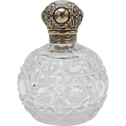 John Grinsell & Sons English Sterling Silver and Cut Glass Perfume Bottle