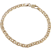 Italian 14KT Gold Link Bracelet