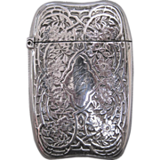 R. Wallace & Sons Sterling Silver and Gilt Match Safe with Thorny Rose Bush Decoration, circa 1900