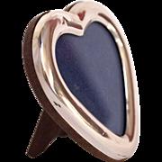 Small Italian Silver Heart Shaped Frame