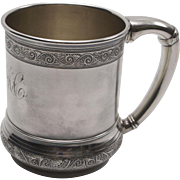 Aesthetic Movement Repoussé Sterling Silver Gorham Mug