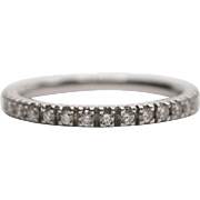 14 K White Gold and Diamond Eternity Band