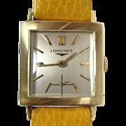 Vintage 14k Gold Longines Swiss Made Yellow Wristwatch