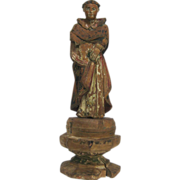 Turn of the Century Wooden Saint (Santo) Sculpture