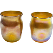 A Pair of Tiffany Favrile Cordials