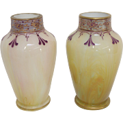 A Pair of Harrach Bohemian Art Glass Vases