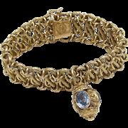 Vintage 18KT Gold & Spinel Marchisio Bracelet