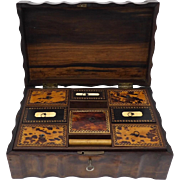 Antique Rosewood & Ebony Women's Work Box