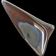 Georg Jensen Sterling Silver Triangular Brooch, Pattern No. 327
