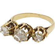 14kt Gold and Rose-Cut Diamond Ring