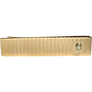 Vintage 14K Gold and Diamond Money Clip