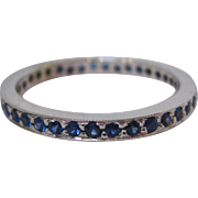 14 K White Gold and Sapphire Eternity Band