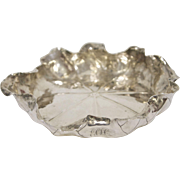 Naturalistic Movement Shiebler Sterling Silver Lily Pad Bowl